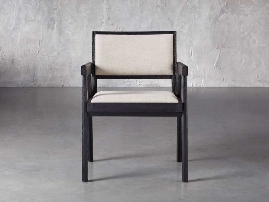 "Kroy Upholstered 23"" Dining Arm Chair, slide 1 of 7"