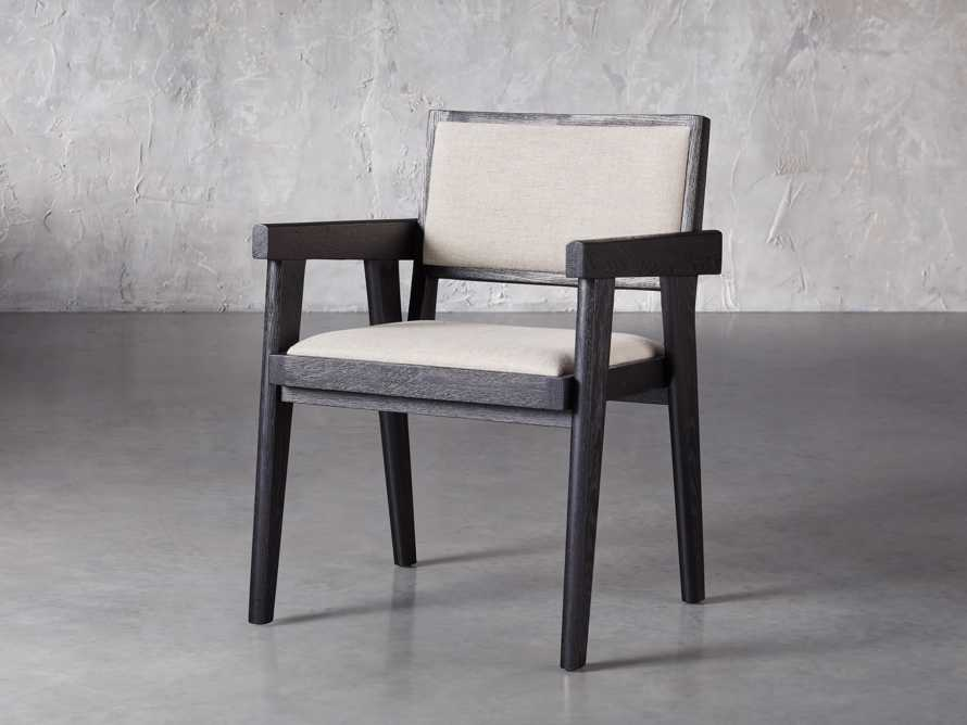 "Kroy Upholstered 23"" Dining Arm Chair, slide 2 of 7"