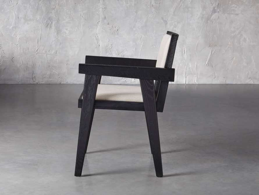 "Kroy Upholstered 23"" Dining Arm Chair, slide 3 of 7"