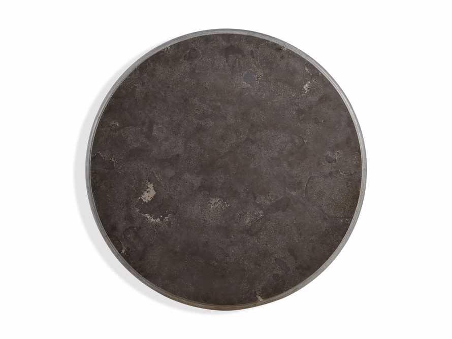 "Luca 39"" Round Pedestal Dining Table with Bluestone Top in Bertogne Brown, slide 3 of 7"