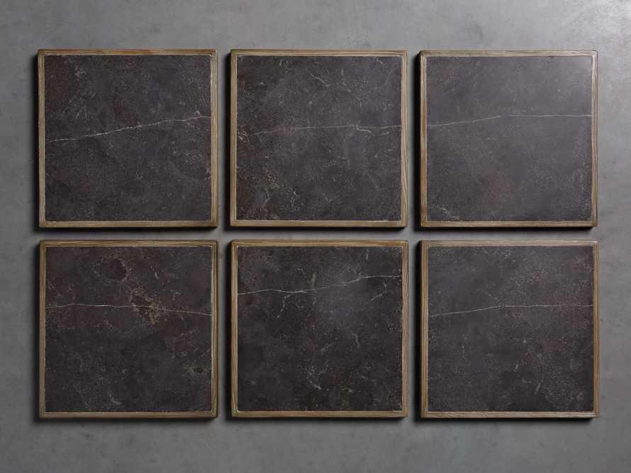"Luca 39"" Round Pedestal Dining Table with Bluestone Top in Bertogne Brown, slide 7 of 7"