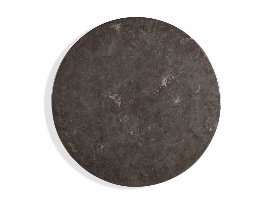 "Luca 39"" Round Pedestal Dining Table with Bluestone Top in Bertogne Brown, slide 5 of 7"