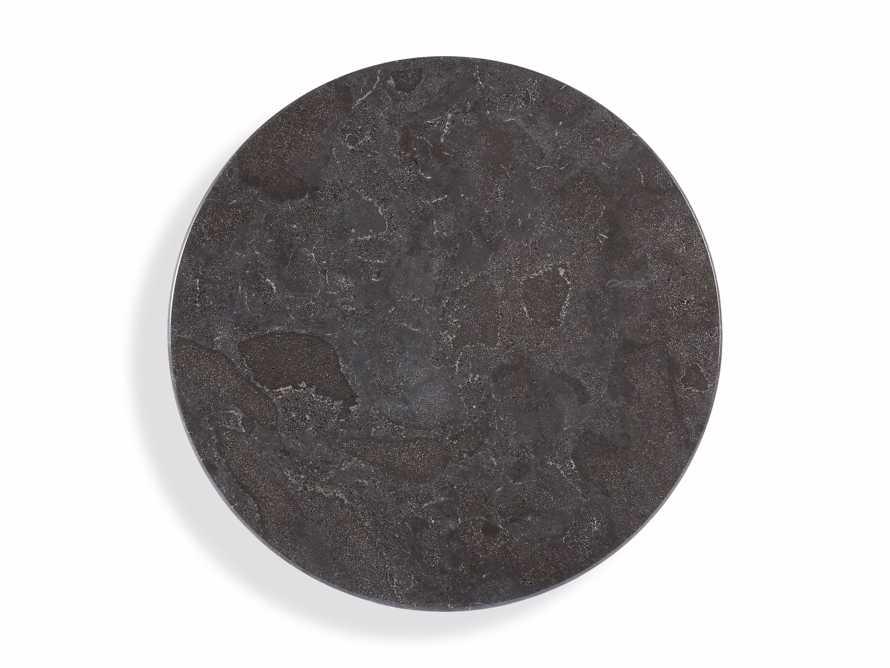 "Luca 39"" Round Pedestal Dining Table with Bluestone Top in Bertogne Brown, slide 4 of 7"