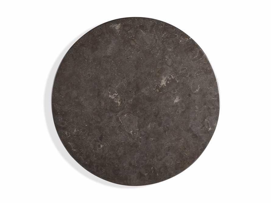 "Luca 48"" Round Pedestal Dining Table with Bluestone Top in Bertogne Brown, slide 5 of 7"