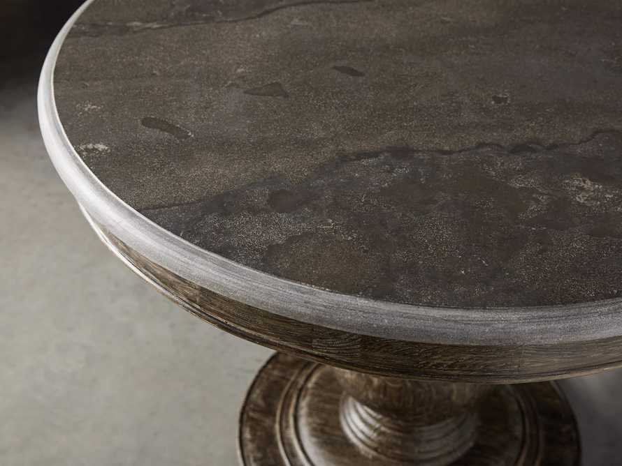 """Luca 54"""" Round Dining Table with Bluestone Top in Earl Black"""
