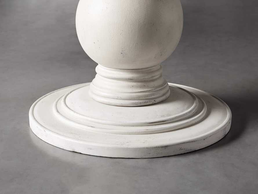 """Luca 39"""" Round Pedestal Dining Table With Bluestone Top In Rustic White, slide 4 of 9"""