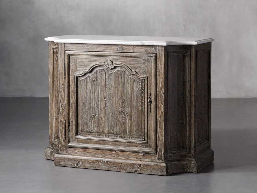 Luca Buffet with White Marble Top in Earl Black