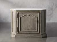 Luca Buffet with White Marble Top in Rustic Grey