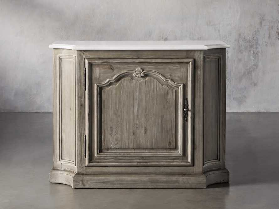Luca Buffet with White Marble Top in Rustic Grey, slide 2 of 10