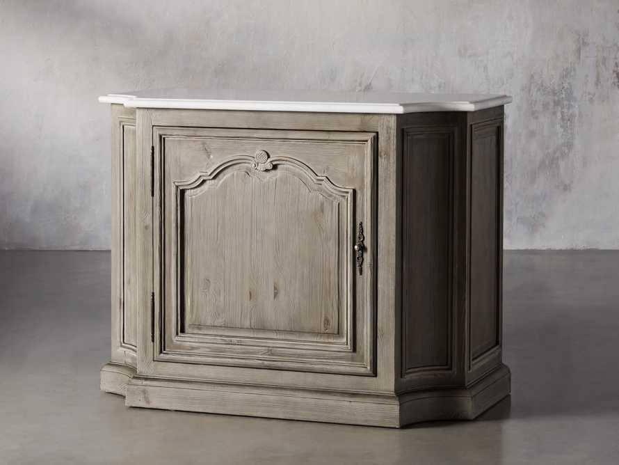 Luca Buffet with White Marble Top in Rustic Grey, slide 3 of 10