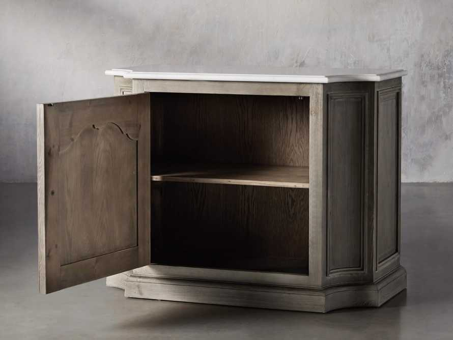 Luca Buffet with White Marble Top in Rustic Grey, slide 4 of 10