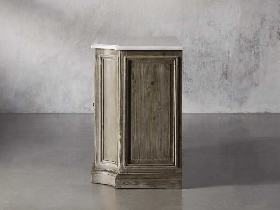 Luca Buffet with White Marble Top in Rustic Grey, slide 5 of 10
