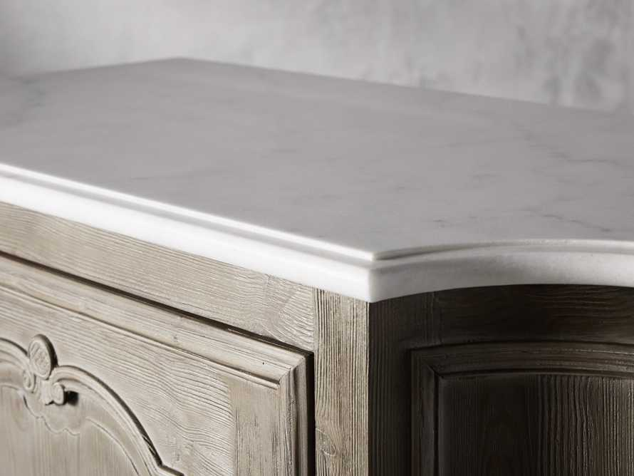 Luca Buffet with White Marble Top in Rustic Grey, slide 6 of 10