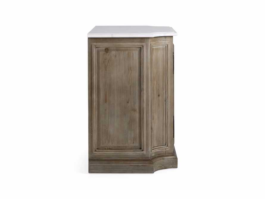 Luca Buffet with White Marble Top in Rustic Grey, slide 9 of 10