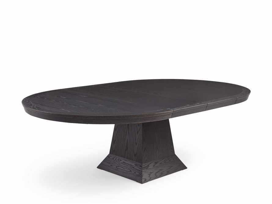 """Leighton 54"""" Round Pedestal Dining Table In Burnished Black"""