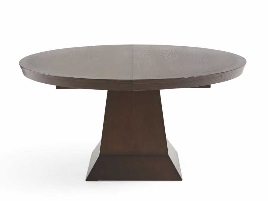 "Leighton 62"" Round Dining Table In Burnished Brown"