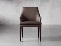 """Lunden 25"""" Dining Arm Chair in Faux Espresso"""