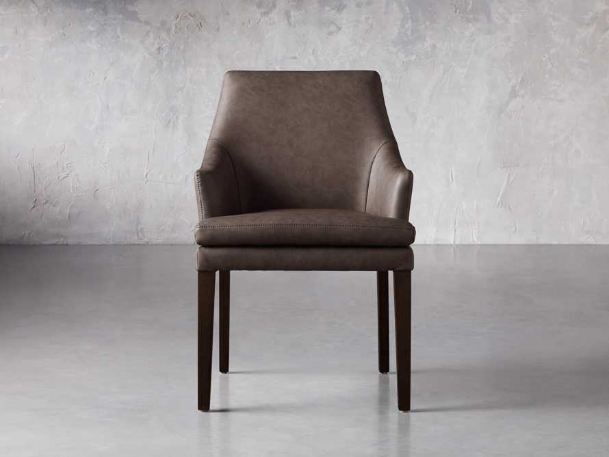 """Lunden 25"""" Dining Arm Chair in Faux Espresso, slide 1 of 3"""