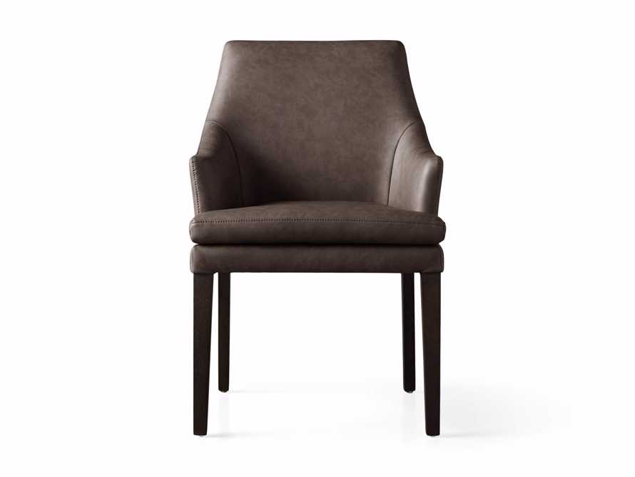 """Lunden 25"""" Dining Arm Chair in Faux Espresso, slide 2 of 3"""
