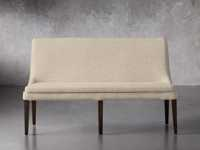 """Lunden 25"""" Bench in Crypton Nomad Linen"""