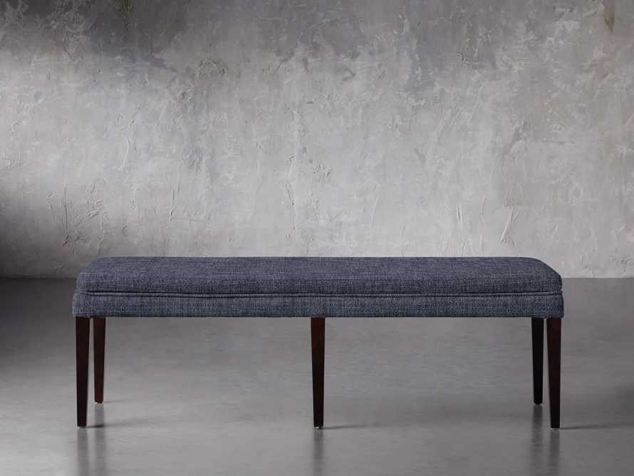 """Lunden 18"""" Backless Bench in Crypton Nomad Navy, slide 1 of 2"""