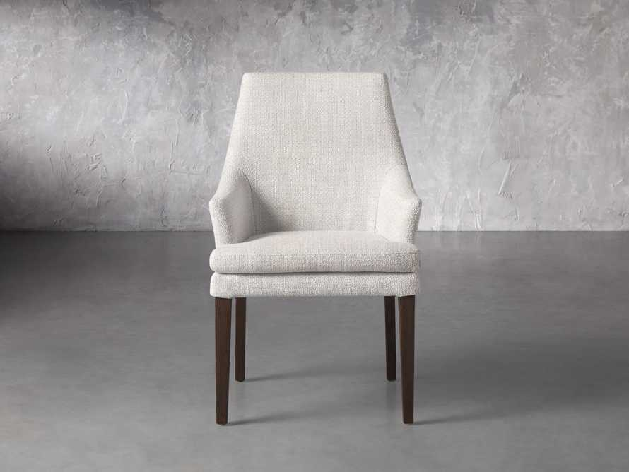 """Lunden 25"""" Dining Arm Chair in Crypton Nomad Snow, slide 1 of 3"""