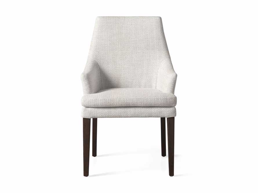 """Lunden 25"""" Dining Arm Chair in Crypton Nomad Snow, slide 2 of 3"""