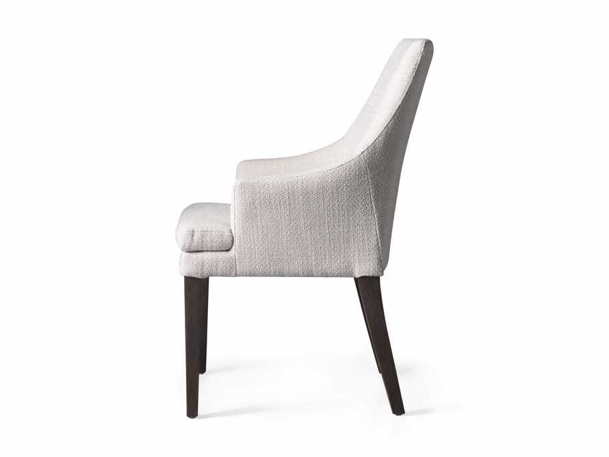 """Lunden 25"""" Dining Arm Chair in Crypton Nomad Snow, slide 3 of 3"""