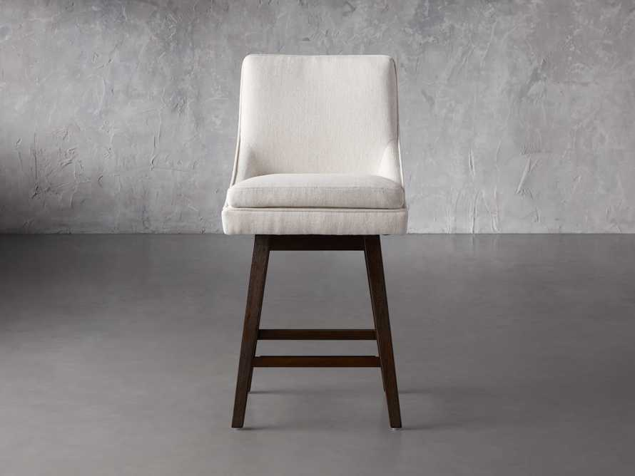 """Lunden 22"""" Swivel Counter Stool in Crypton Nomad Snow, slide 1 of 7"""