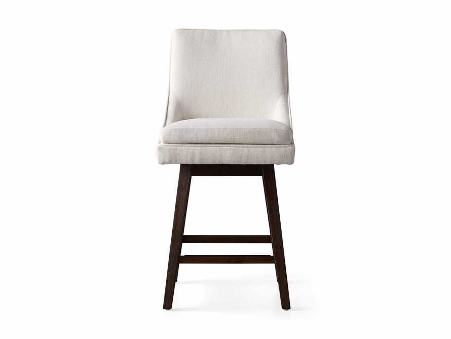 """Lunden 22"""" Swivel Counter Stool in Crypton Nomad Snow, slide 6 of 7"""