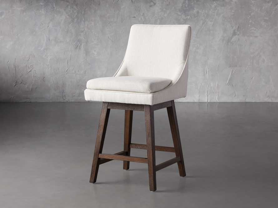 """Lunden 22"""" Swivel Counter Stool in Crypton Nomad Snow, slide 2 of 7"""