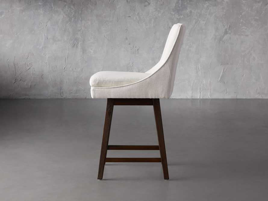 """Lunden 22"""" Swivel Counter Stool in Crypton Nomad Snow, slide 4 of 7"""
