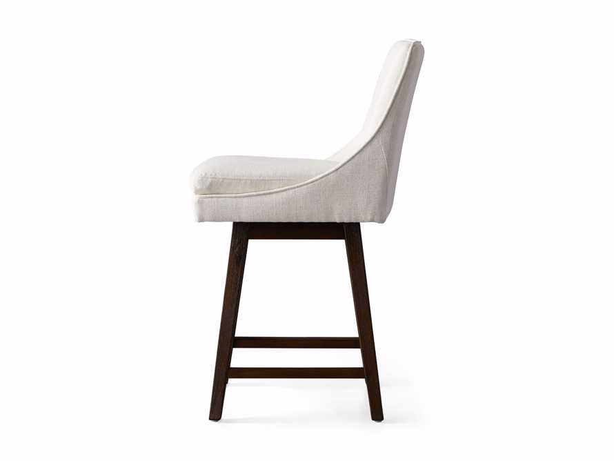 """Lunden 22"""" Swivel Counter Stool in Crypton Nomad Snow, slide 7 of 7"""