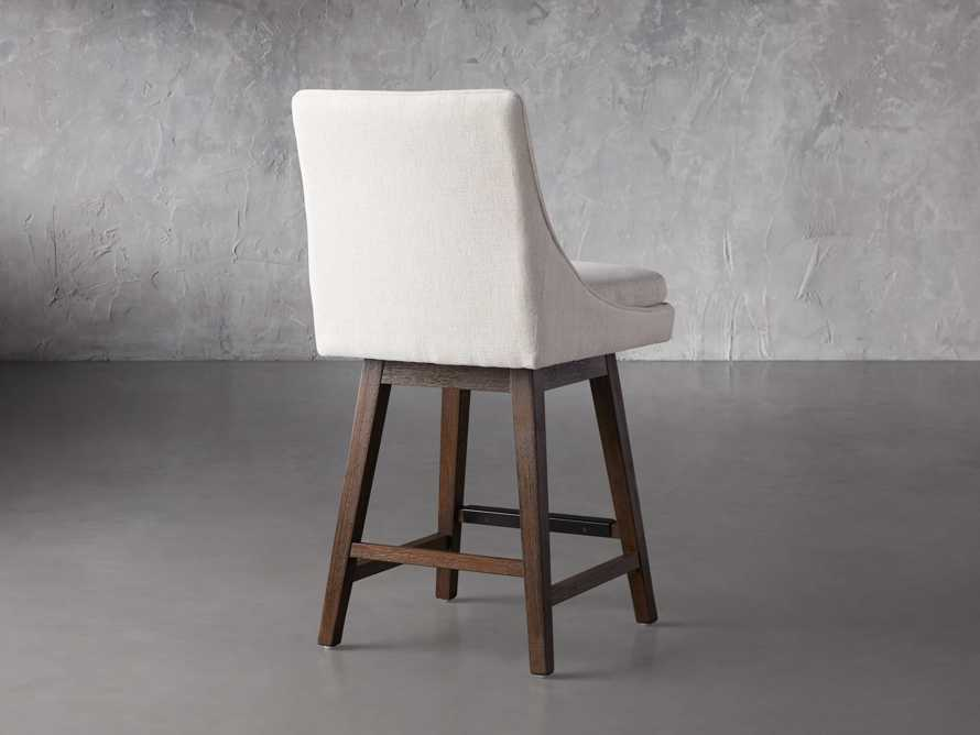 """Lunden 22"""" Swivel Counter Stool in Crypton Nomad Snow, slide 3 of 7"""