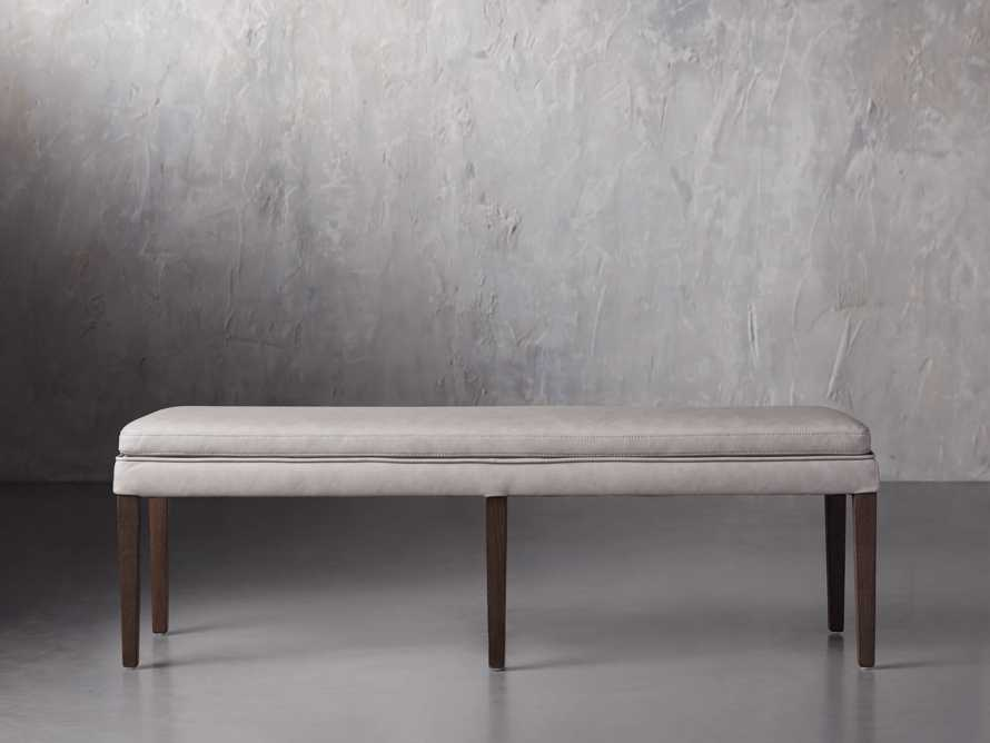 "Lunden 60"" Blackless Bench in Faux Drift, slide 1 of 4"