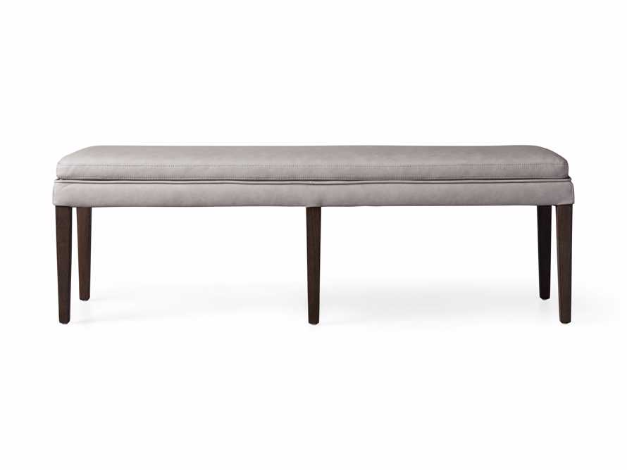 "Lunden 60"" Blackless Bench in Faux Drift, slide 4 of 4"