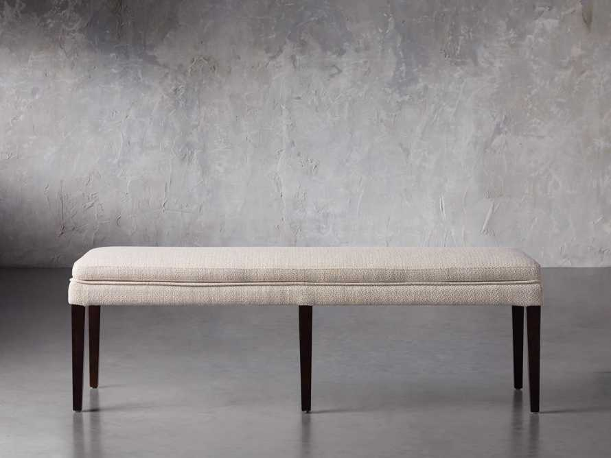 """Lunden 60"""" Blackless Bench in Stucco, slide 2 of 5"""