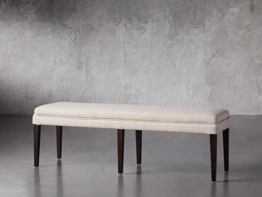 """Lunden 60"""" Blackless Bench in Stucco, slide 3 of 5"""