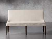 """Lunden 60"""" Upholstered Bench in Moto Stucco"""