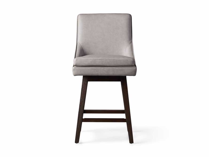 """Lunden Faux Leather 19"""" Swivel Counter Stool in Faux Drift, slide 7 of 8"""