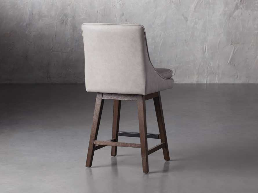 """Lunden Faux Leather 19"""" Swivel Counter Stool in Faux Drift, slide 4 of 8"""