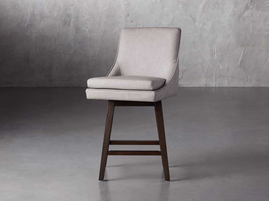"""Lunden Faux Leather 19"""" Swivel Counter Stool in Faux Drift, slide 5 of 8"""