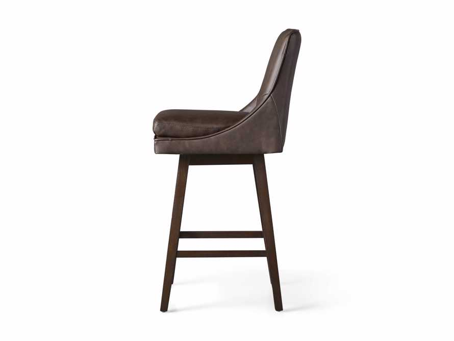 "Lunden Faux Leather 19"" Swivel Barstool in Faux Espresso, slide 6 of 6"