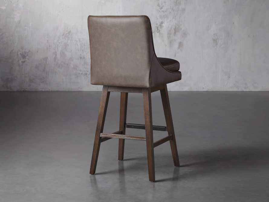 "Lunden Faux Leather 19"" Swivel Barstool in Faux Espresso, slide 4 of 6"