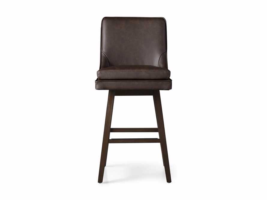 "Lunden Faux Leather 19"" Swivel Barstool in Faux Espresso, slide 5 of 6"