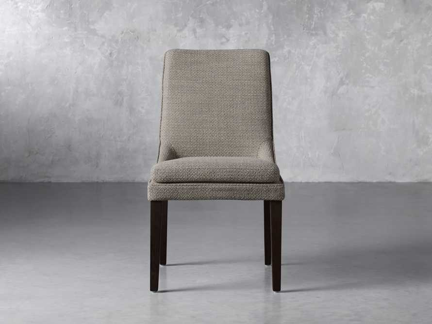 Lunden Upholstered Dining Side Chair in Moto Pumice, slide 1 of 8