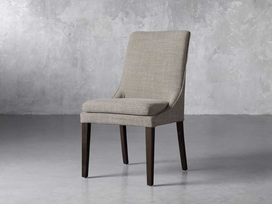 Lunden Upholstered Dining Side Chair in Moto Pumice, slide 2 of 8
