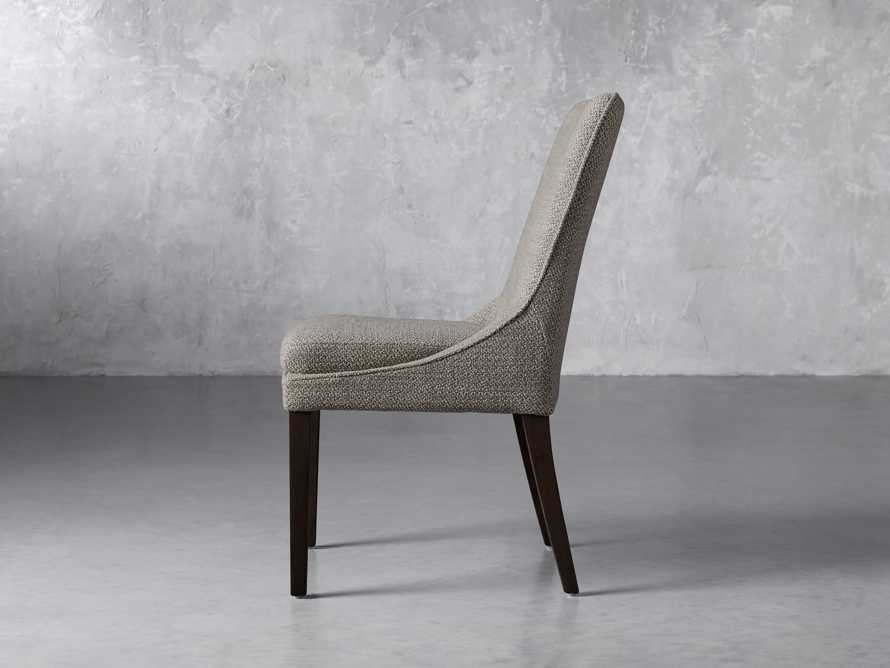 Lunden Upholstered Dining Side Chair in Moto Pumice, slide 3 of 8