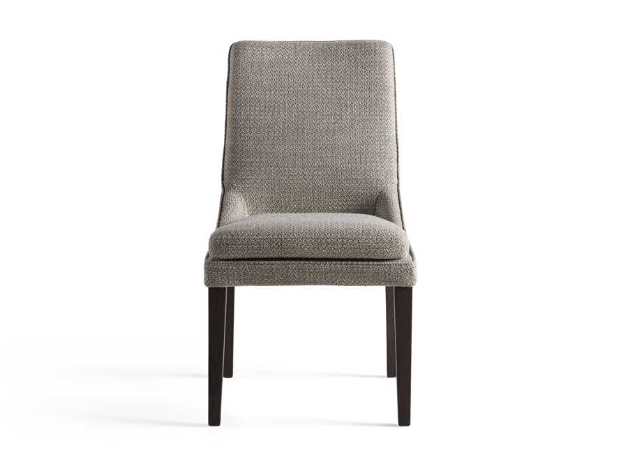 Lunden Upholstered Dining Side Chair in Moto Pumice, slide 7 of 8
