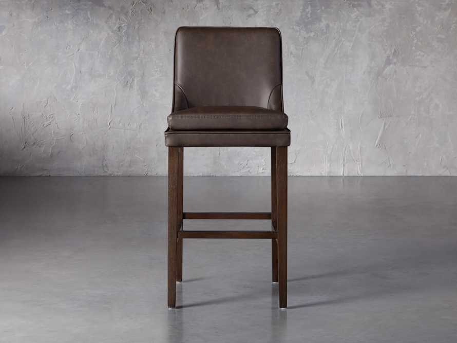 Lunden Faux Leather Dining Side Chair in Espresso, slide 1 of 7